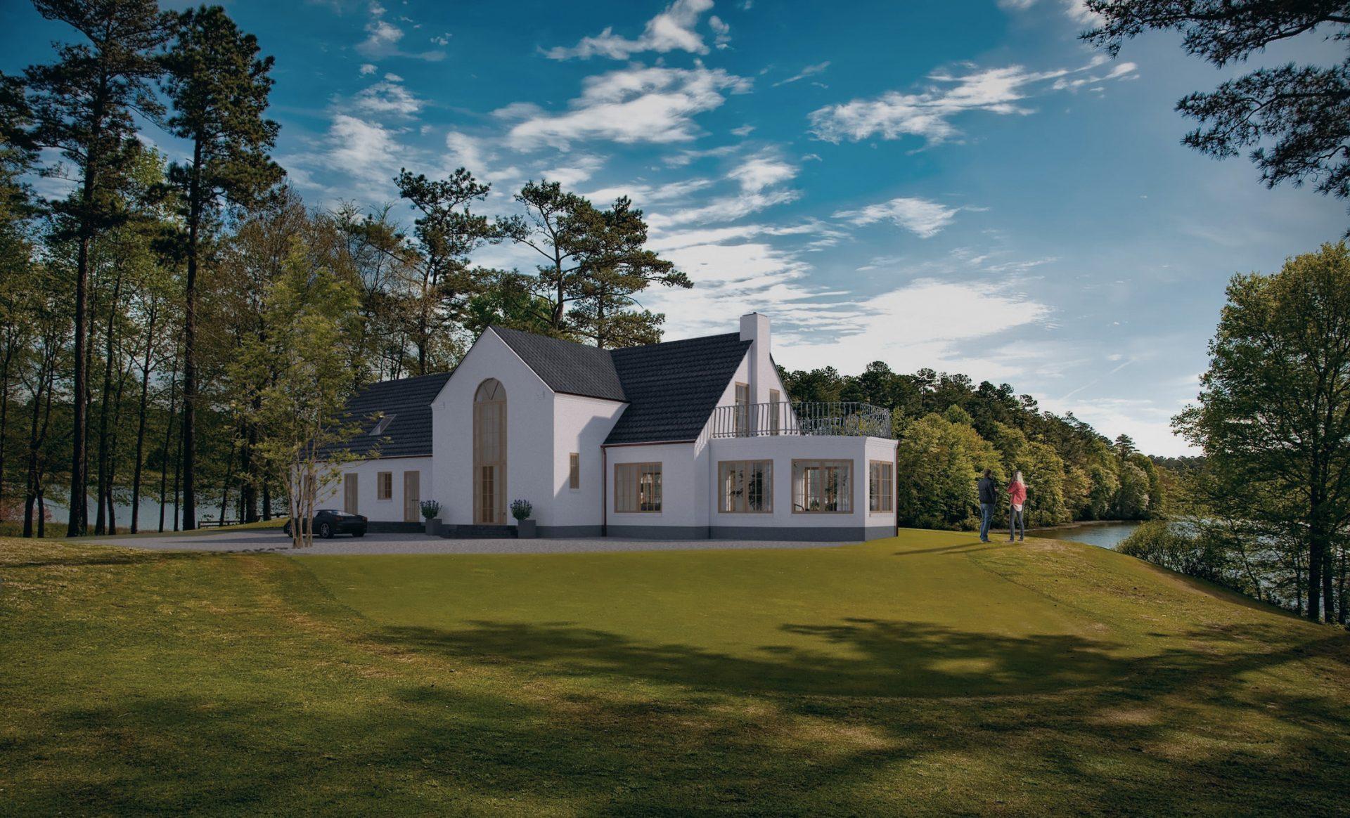 Nybyggeri Aalborg, Århus , Nordjylland, nyt hus i naturen