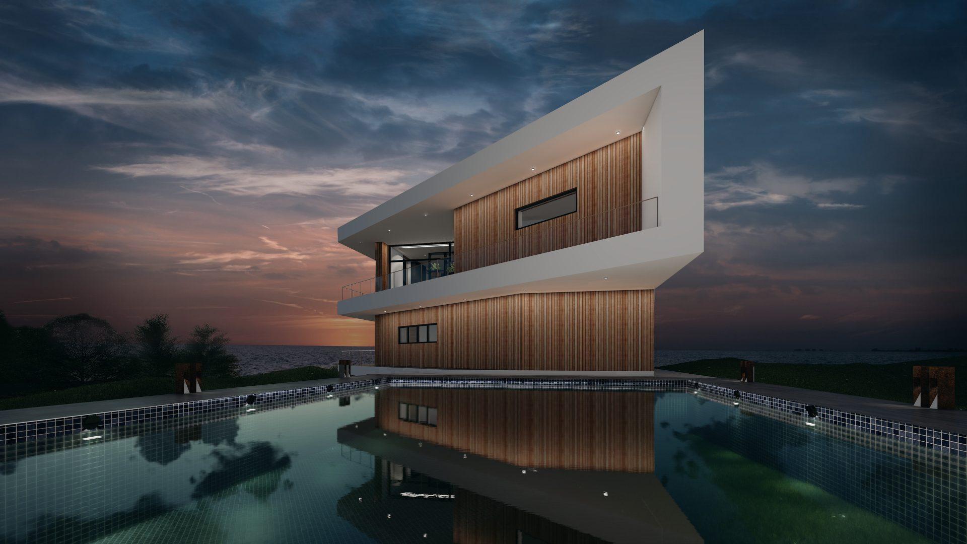 Nybyggeri Aalborg, Århus , Nordjylland, moderne funkisvilla